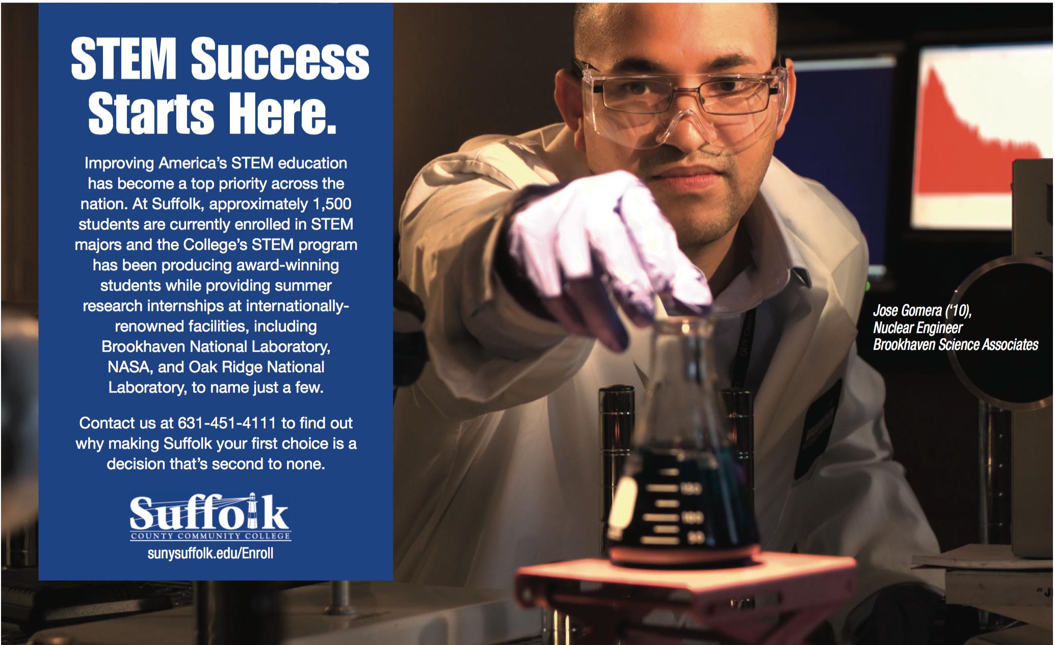 Suffolk STEM program ad