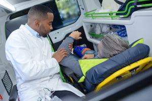EMT treating a patient.